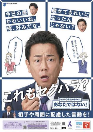 「セクハラ防止啓発ポスター」 (政府広報   内閣府)
